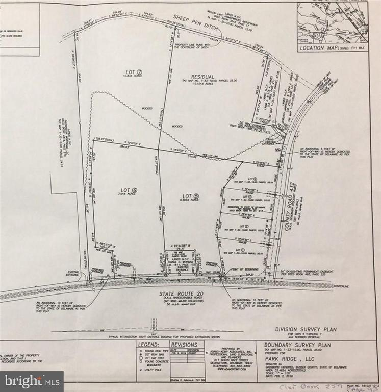 Georgetown DE Building Lots, Land & Acreage Real Estate Sales - Residual lot Governor Stockley   For Sale
