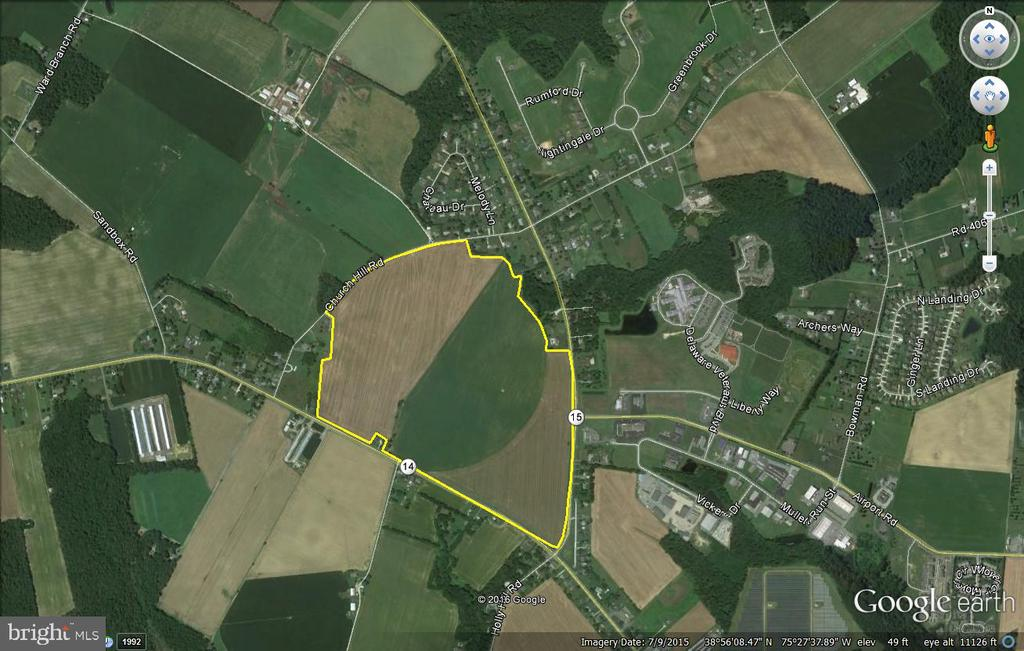 Milford DE Building Lots, Land & Acreage Real Estate Sales - 182 Acres Milford-harrington   For Sale