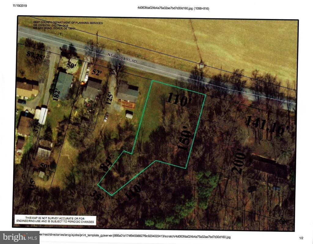 Milford DE Building Lots, Land & Acreage Real Estate Sales - Lot New Wharf Rd.   For Sale