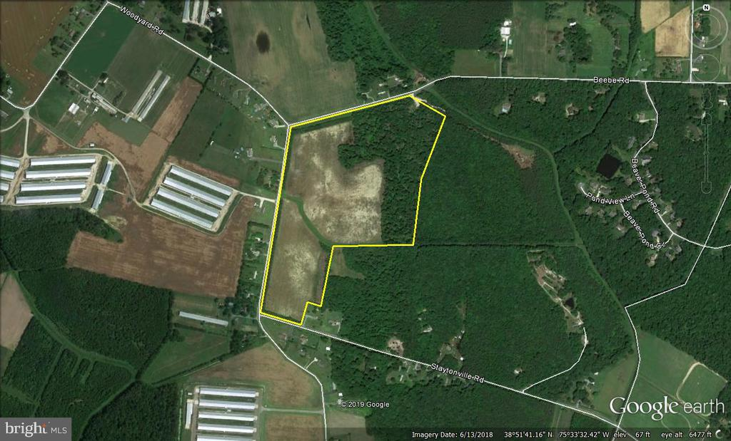 Harrington DE Building Lots, Land & Acreage Real Estate Sales - 55.8 Acres Woodyard   For Sale