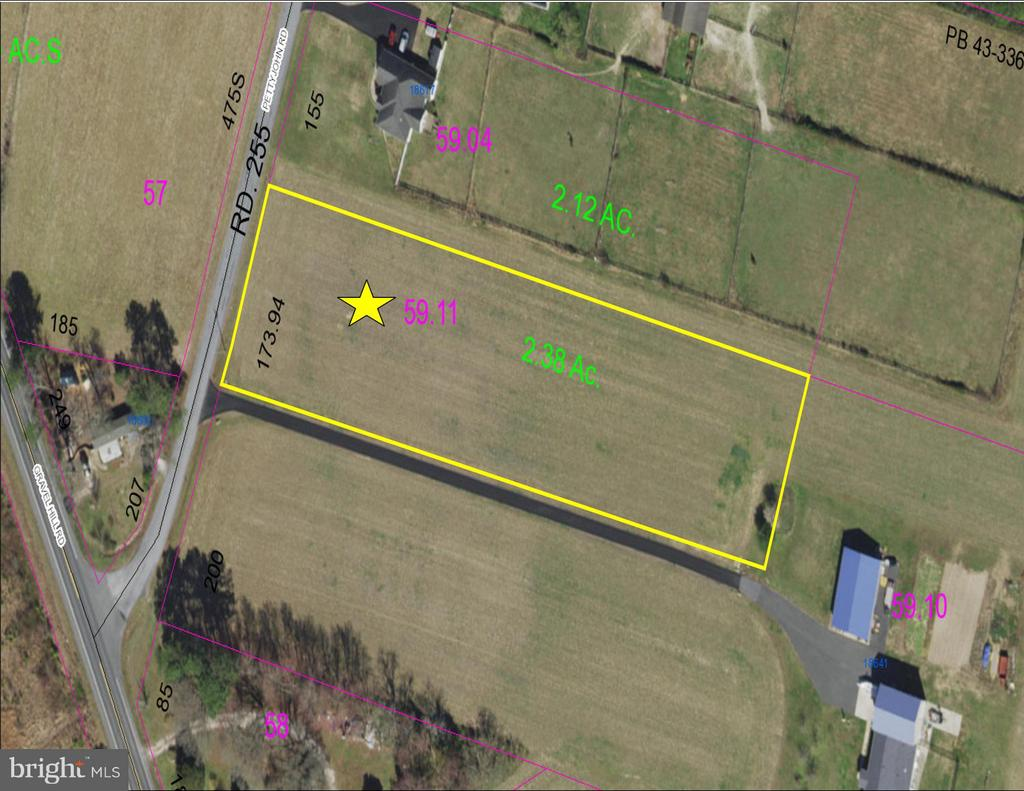 Georgetown DE Building Lots, Land & Acreage Real Estate Sales - Pettyjohn Road   For Sale