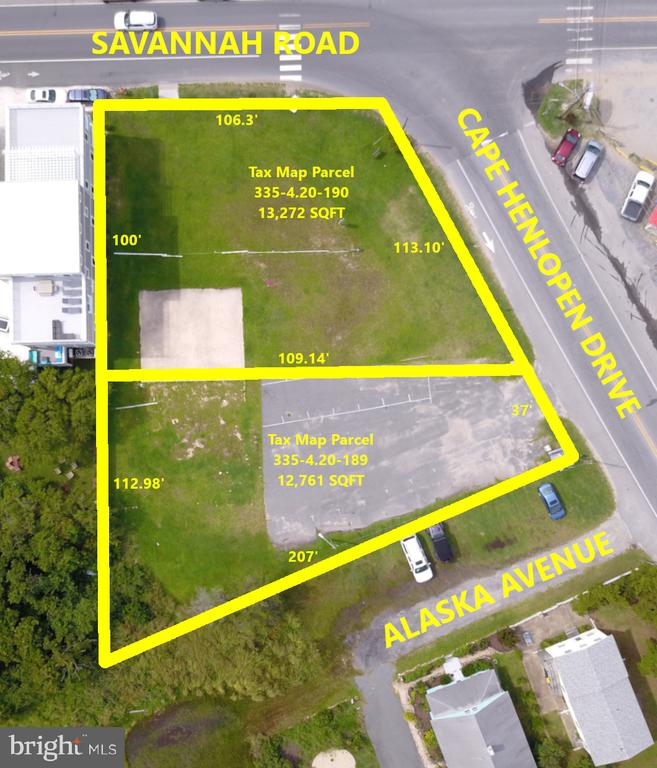 Lewes DE Building Lots, Land & Acreage Real Estate Sales - 203 Savannah Road Lewes Beach  For Sale
