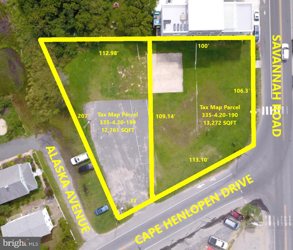 Lewes DE Building Lots, Land & Acreage Real Estate Sales - Cape Henlopen Drive & Alaska Avenue Lewes Beach  For Sale