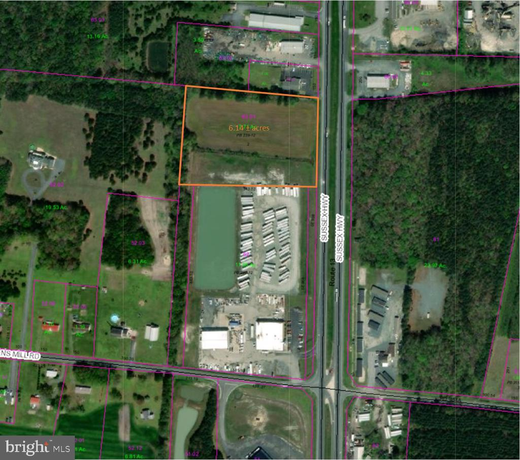Delmar DE Building Lots, Land & Acreage Real Estate Sales - Route 13   For Sale